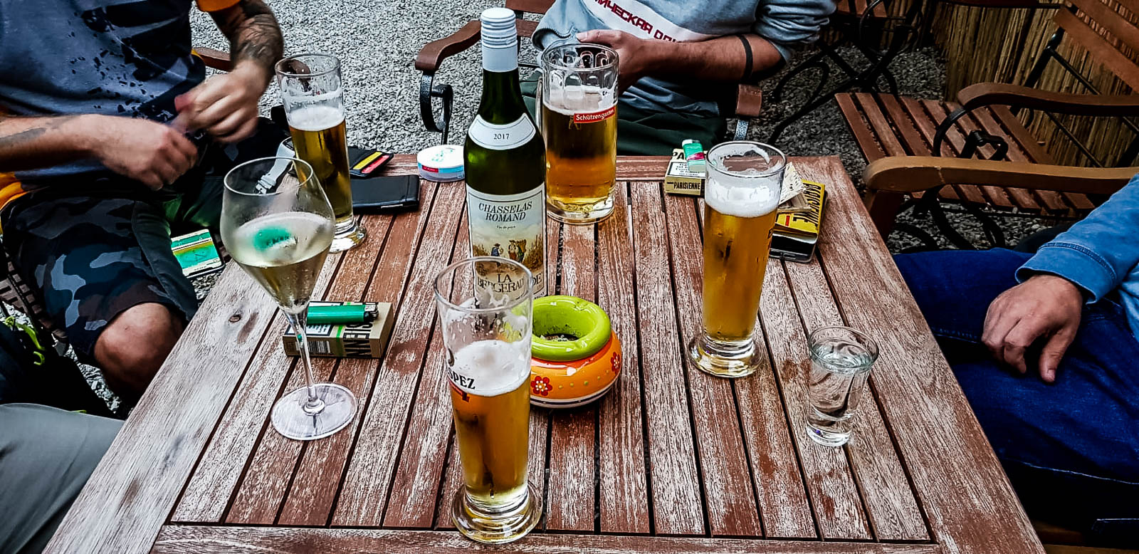 Das Bier nach der Tour