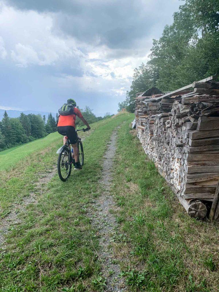 Bevor es regnet, ab Richtung Alphütte